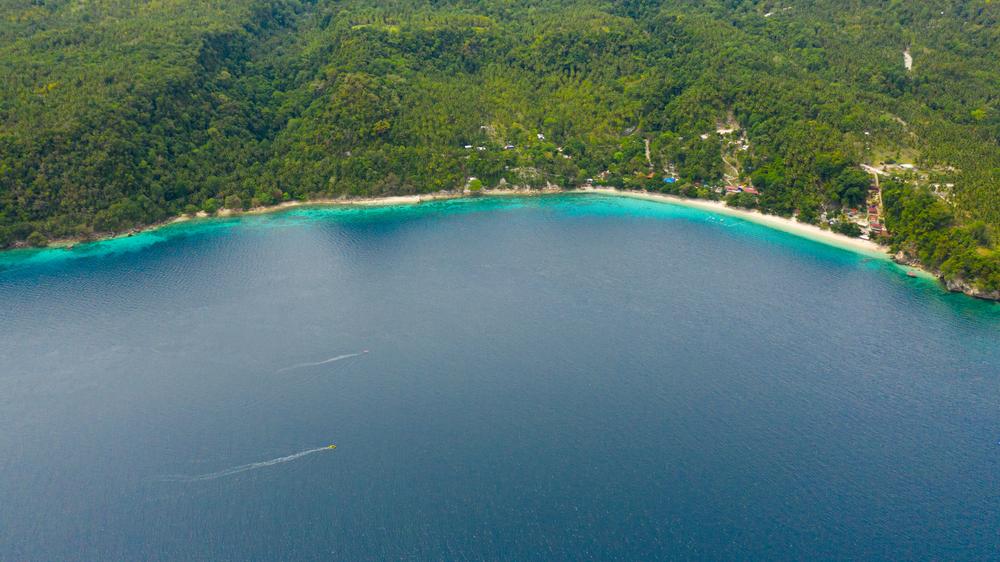 the coast along Davao
