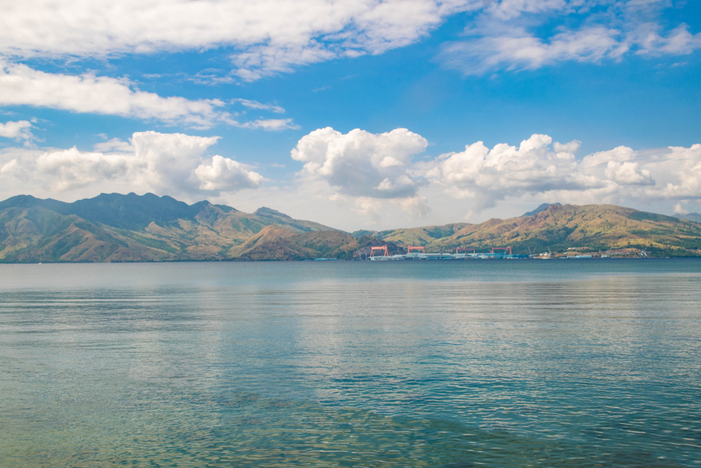 clear skies and calm waters in Subic
