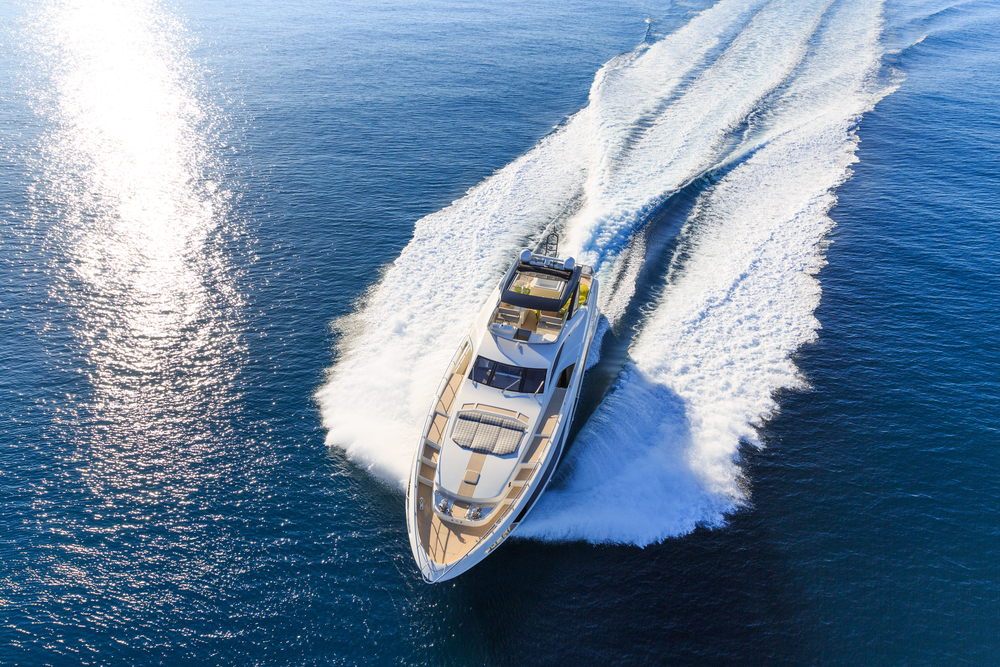 a luxury yacht on the sea