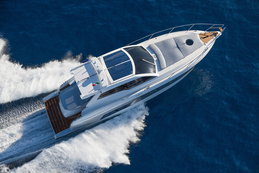 a luxury yacht out at sea