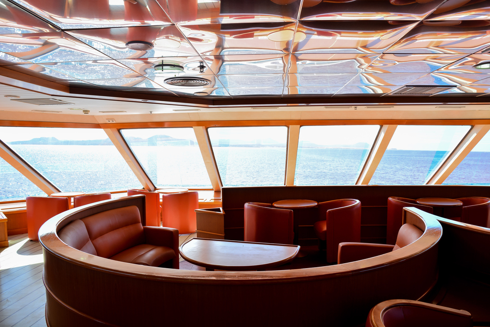 leather-covered yacht interiors