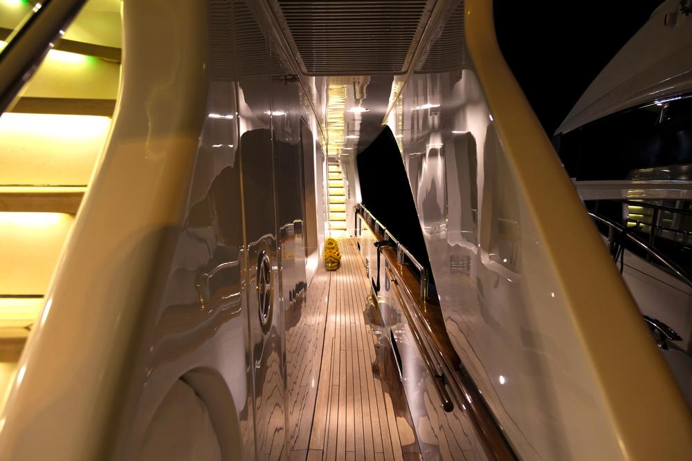 a yacht's interior lighting